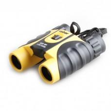 Бинокль Veber 10x25 WP, желто-черный