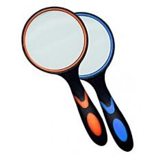 Лупа ручная круглая 8х-65мм (резиновая двуцветная ручка) Kromatech