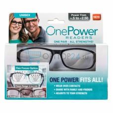 Лупа 0.5-2.5D (универсальные увеличительные очки) One Power Readers