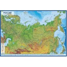 Физическая интерактивная карта России с ламинацией Globen купить в Иркутске