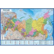 Политическая интерактивная карта России с ламинацией Globen