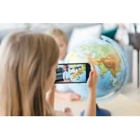 """Интерактивный глобус """"Мир в руках детей"""" Globen d=32 см с подсветкой"""